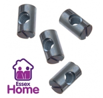 M6 Barrel Nuts -  for use with Furniture Bolts  (Ikea Style)