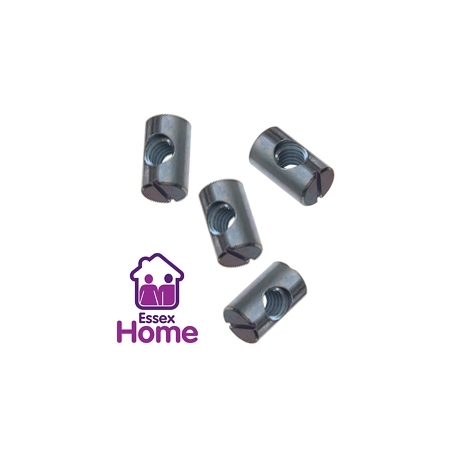 M6 Barrel Nuts -  Furniture Bolt Type  (Ikea Style)