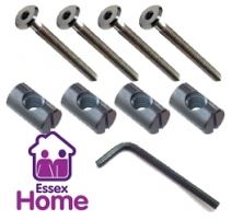 M6 X 16 Furniture Pack - Flat Sockets, Barrel Nuts & Key