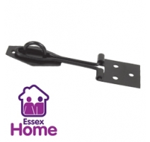 "3"" Black Wire Hasp & Staple - 75mm"