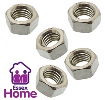 M4 Hexagon Full Nuts Zinc Plated BZP