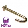 M6 x 60 Hook Bolts BZP Zinc & Yellow - J bolt