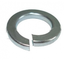 M5 SPRING COIL WASHERS BZP ZINC PLATED