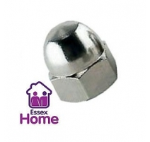 M4 DOME NUTS ZINC PLATED BZP