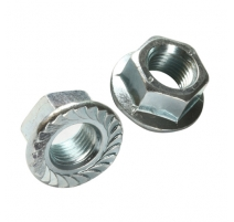 M10 SERRATED FLANGED NUTS BZP ZINC
