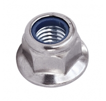 M6 FLANGED NYLOC NUTS BZP ZINC
