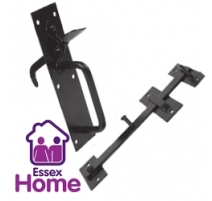 Suffolk Gate Latch Light Pattern Black