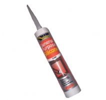 Everbuild General Purpose Silicone Brown - 6 tubes