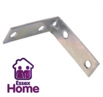 "2 1/2"" Zinc Plated Corner Brace - Steel 65mm"