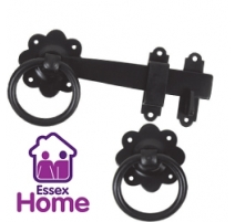"6"" Ring Gate Latch Black - 150mm"