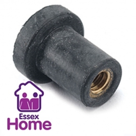 M4 X 10MM RUBBER CAVITY NUTS - WELL NUT